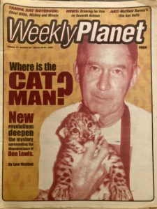Don Lewis on cover of Weekly Planet
